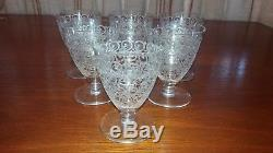 Wonderful French BACCARAT ROHAN CHATEAUBRIAND Crystal 6 CLARET WINE Glasses