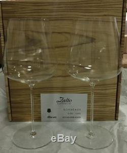 Zalto Denk Art Bordeaux Set of 2 wine glasses authentic new 11202