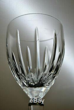 (set Of 9) Vintage Lenox Clarity Pattern Crystal Wine Glasses 7 Discontinued